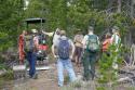 Lander-Sinks-Brewers-Trail-062918-01-Adam-Buck-and-Shoshone-meet-on-trail-tour