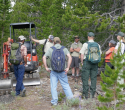 Lander-Sinks-Brewers-Trail-062918-01-Adam-Buck-and-Shoshone-meet-on-trail-tour