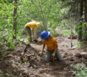 Lander-Sinks-Brewers-Trail-062918-13-WCC-crew-working-on-Brewers-Trail-finish-work