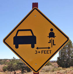 Sign with 3 foot Distance to Cars-small