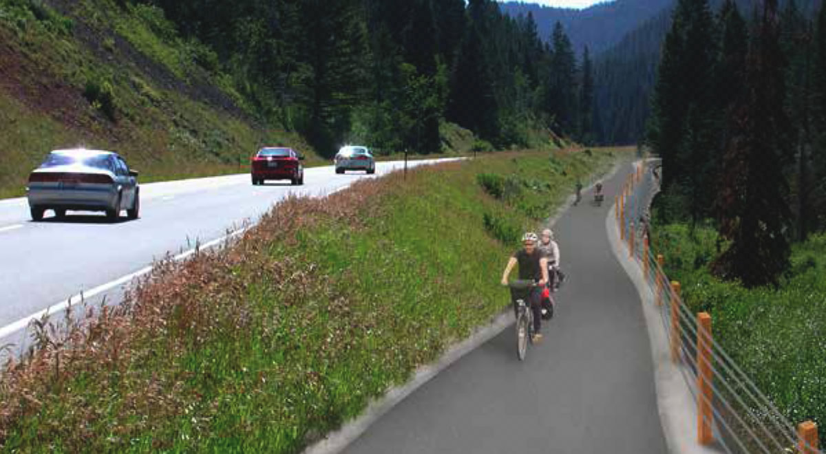 Conceptual rendering of the Teton Pass Trail